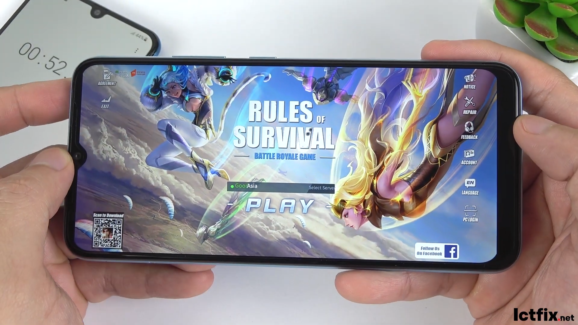Realme C21Y test game Rules Of Survival Ros