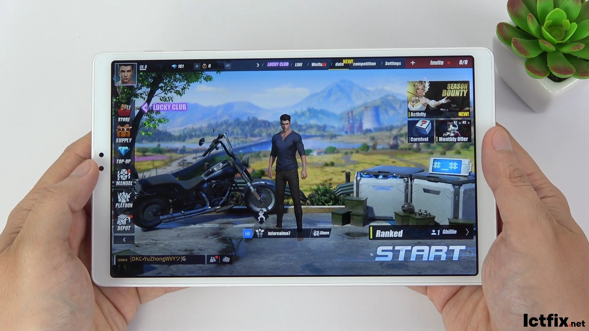 Samsung Galaxy Tab A7 Lite test game Rules of Survival ROS
